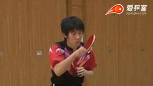 高木和健正手攻球技术