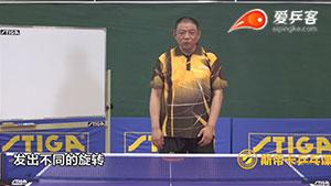 李晓东教你如何用相似的动作发出不同旋转的球
