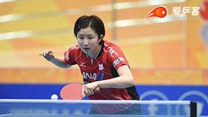 朱雨玲VS早田希娜 2017亚洲乒乓球锦标赛 男团决赛视频