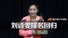 乒联5月排名:马龙丁宁继续领跑 刘诗雯重回榜单