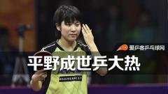 平野成世乒赛夺冠热门,网友:期待再次横扫中国!