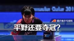 世乒赛壮行平野放话要夺冠:亚锦赛获胜不是侥幸