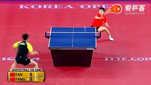 如何拍弧圈球之1樊振东快拍弧圈球2016韩国赛八强战