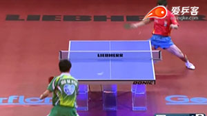 如何打削球之3张继科发逆侧旋反手正手暴冲2011世界杯半决赛