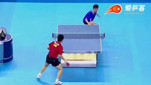 如何打削球之11樊振东左右调动长短结合2014青奥决赛
