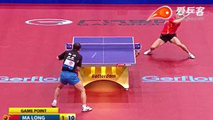 如何反拉之25马琳直拍横拉马龙反拉暴冲斜线2011世乒赛八强战