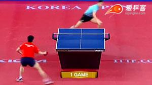 如何直拍横打之5黄镇廷反冲斜线2016韩国赛八强战