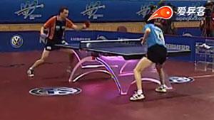 如何摆短之18柳承敏接发球摆短抢拉2005世乒赛R2