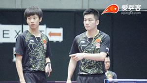 日乒赛 | 国乒新双子星合体!苦战韩国男双3:2惊险晋级