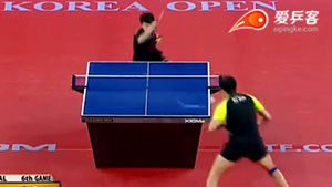 如何挑打之14马龙发球暴挑斜线2016韩国赛决赛