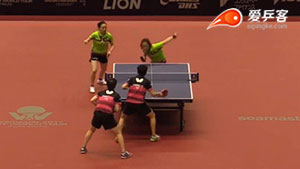 田志希/梁夏银 VS 陈思羽/郑怡静 2017年日本乒乓球公开赛 女双半决赛视频