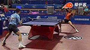 如何抢拉之32大塞弗接发球拧拉转正手暴冲2005世乒赛R2