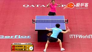 如何反击加转弧圈之十刘诗雯快打2016卡塔尔公开赛