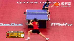 如何反击加转弧圈之十四奥恰洛夫反拉加转2016卡塔尔公开赛