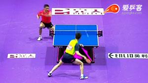 如何反击加转弧圈之十七许昕反拉加转弧圈2016世乒赛团体赛中韩