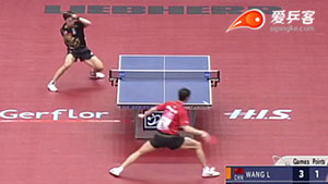如何反击加转弧圈之27陈玘反拉王励勤加转弧圈2009世乒赛八强战