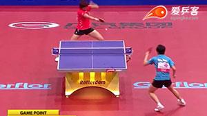 如何反击加转弧圈之29郭跃反拉加转弧圈2011世乒赛半决赛