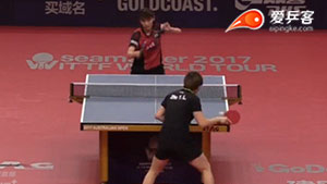 朱雨玲VS加藤美优 2017澳大利亚乒乓球公开赛 女单第二轮视频