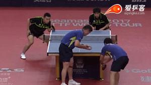 陈建安/江宏杰VS高宁/庞学杰 2017澳大利亚乒乓球公开赛 男双半决赛视频