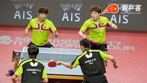 国乒未来大敌!韩国男双崛起秒杀对手夺冠