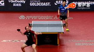 保罗·金克霍尔VS大岛祐哉 2017澳大利亚乒乓球公开赛 男单1/4决赛视频