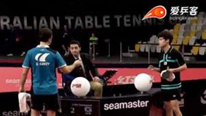 西蒙.高茨VS赵成敏 2017澳大利亚乒乓球公开赛 男单半决赛视频