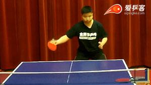 中国发明的超强技术:直拍横打反手前冲弧圈球!