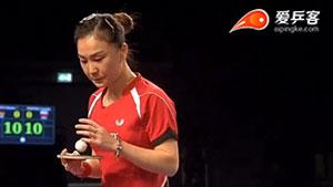 单晓娜VS娜塔莉亚 2017卡塔尔乒乓球公开赛 女单1/4决赛视频