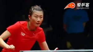丁宁VS梁夏银 2017T2联赛 女团视频