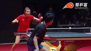 丁宁VS郑怡静 2017T2联赛 女单视频(平局)