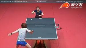 梁夏银VS田志希 2017T2联赛 女团视频