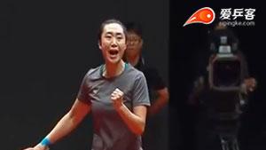 冯天薇VS郑怡静 2017T2联赛 女团视频