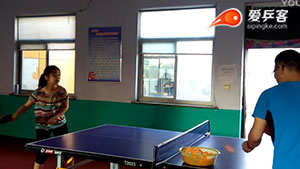 漂亮女孩初学乒乓球之正手攻球问题答疑