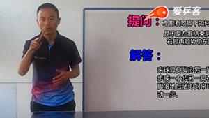 练习乒乓球左推右攻时, 步法正确的移动姿势