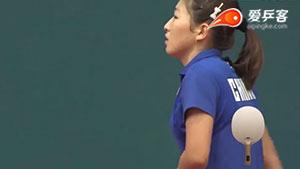国乒为啥称霸世界?看看女队训练!刘诗雯练到捂腰喘气