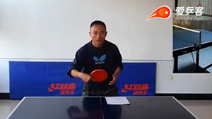 解决乒乓球反手拨球时手脚不协调的难关