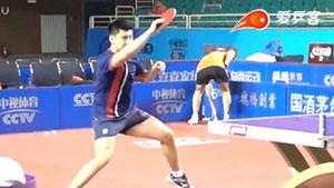 薛飞直拍横打正手拉球多角度超级