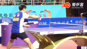 闫安反手爆拧端线球超级慢镜头
