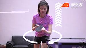 美女详解乒乓球正手发上旋球,我一个菜鸟都学会了怎么开球了
