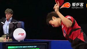 日本一哥怒摔球拍,对手帮捡还道歉,这素质也是没谁了!