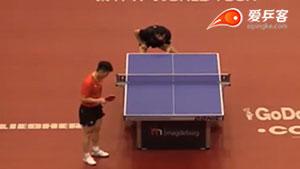 樊振东VS周雨 2017德国公开赛 男单第二轮视频