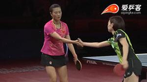 丁宁VS石川佳纯 2017瑞典公开赛 女单半决赛视频