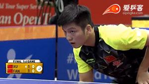 樊振东VS许昕 2016日本乒乓球公开赛 男单决赛视频
