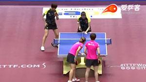 丁宁/李晓霞VS刘诗雯/朱雨玲 2016日本乒乓球公开赛 女双视频