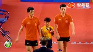 张继科/许昕VS郑荣植/李尚洙 韩国公开赛 男双决赛视频