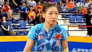 刘诗雯VS朱雨玲 韩国公开赛 女单半决赛视频