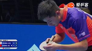 张继科VS大岛祐哉 2015亚洲乒乓球锦标赛 男团决赛视频(第三场)