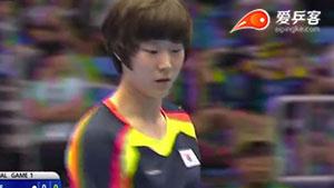 丁宁VS李希恩 2015亚洲乒乓球锦标赛 女团半决赛视频(第二场)