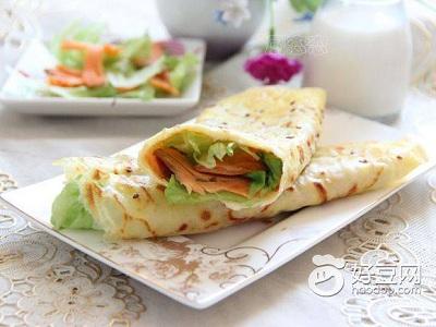 三文鱼的吃法—三文鱼杂粮煎饼