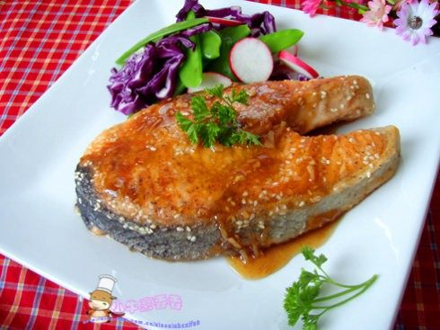 三文鱼的吃法—柠香芝麻鱼排